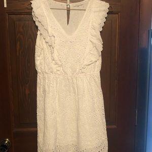 White lace dress size medium